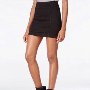 Free People Black Modern Femme Skirt NWT size 0